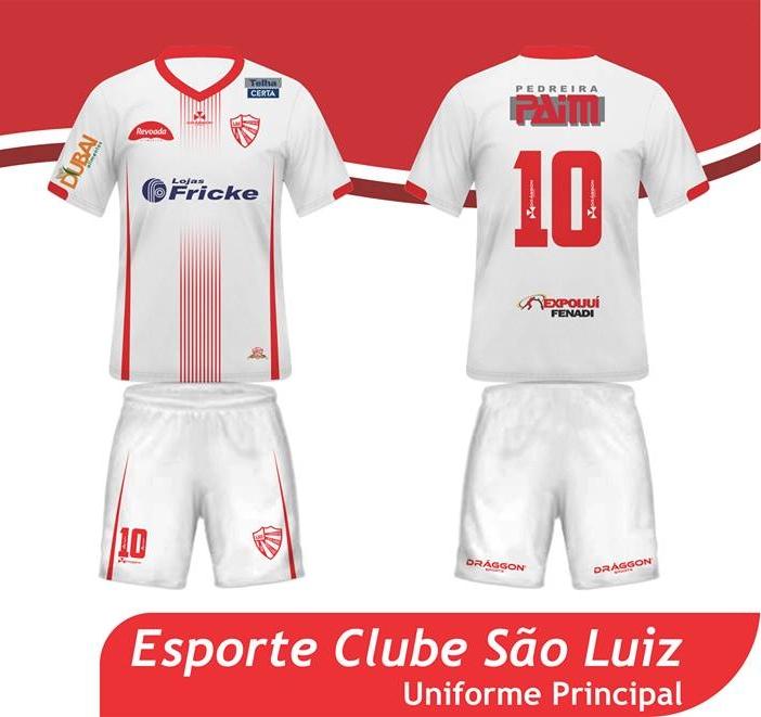 05af5d1bb1 Draggon lança as novas camisas para o São Luiz de Ijuí - Show de Camisas