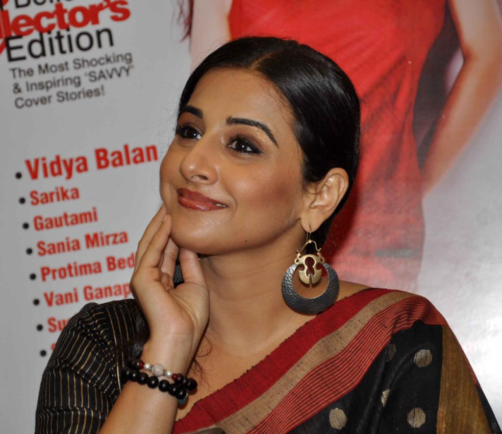 Vidya Balan Very Hot Photos In Black Saree
