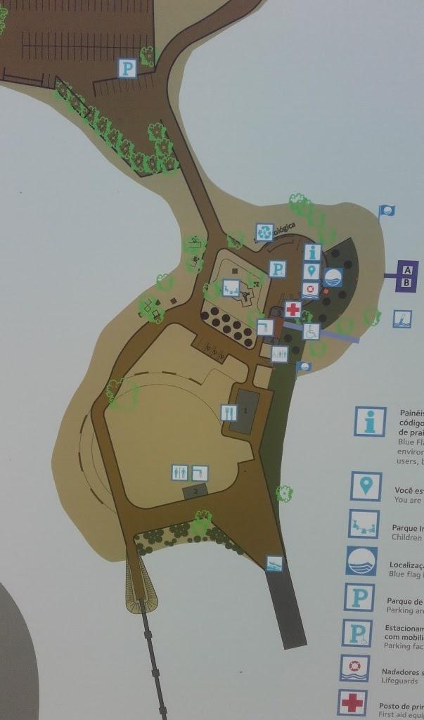 Plano da Praia fuvial