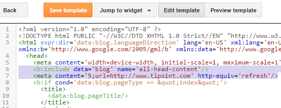 Redirect Blogger Blog After A Specific Time