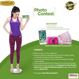 Lomba Foto Slimming Tea Alfamart Berhadiah IPhone, Kamera dan Voucher Belanja