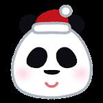 クリスマスの顔マーク(パンダ)