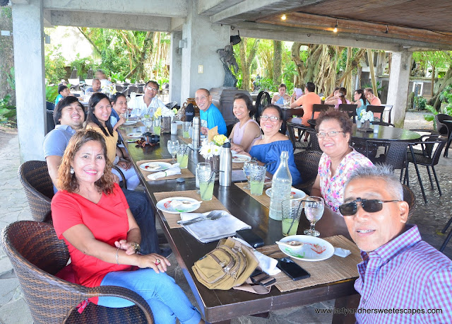 family lunch in Punong Gary's Place