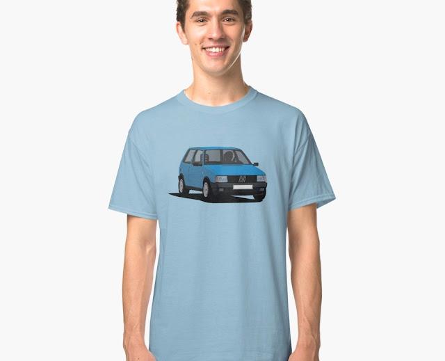 Fiat Uno MK1 T-shirts blue