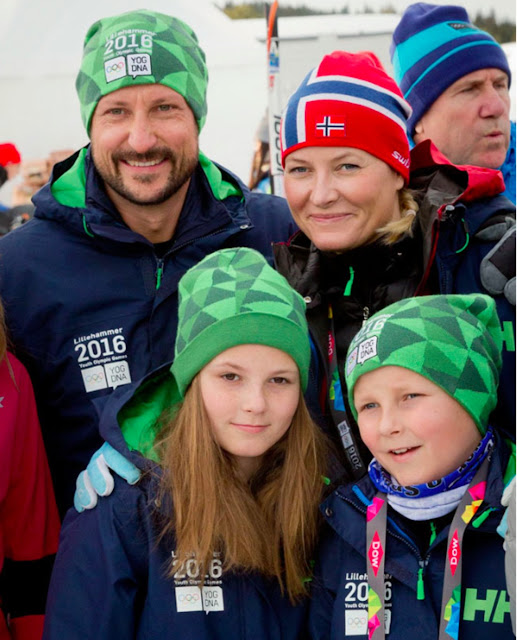 Crown Princess Mette Marit and Crown Prince Haakon of Norway and Princess Ingrid Alexandra and Sverre Magnus