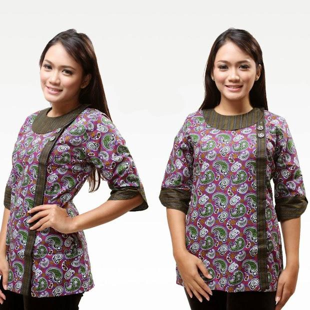 Model Baju Kemeja Batik Untuk Wanita Kancing Samping Exploring Mars