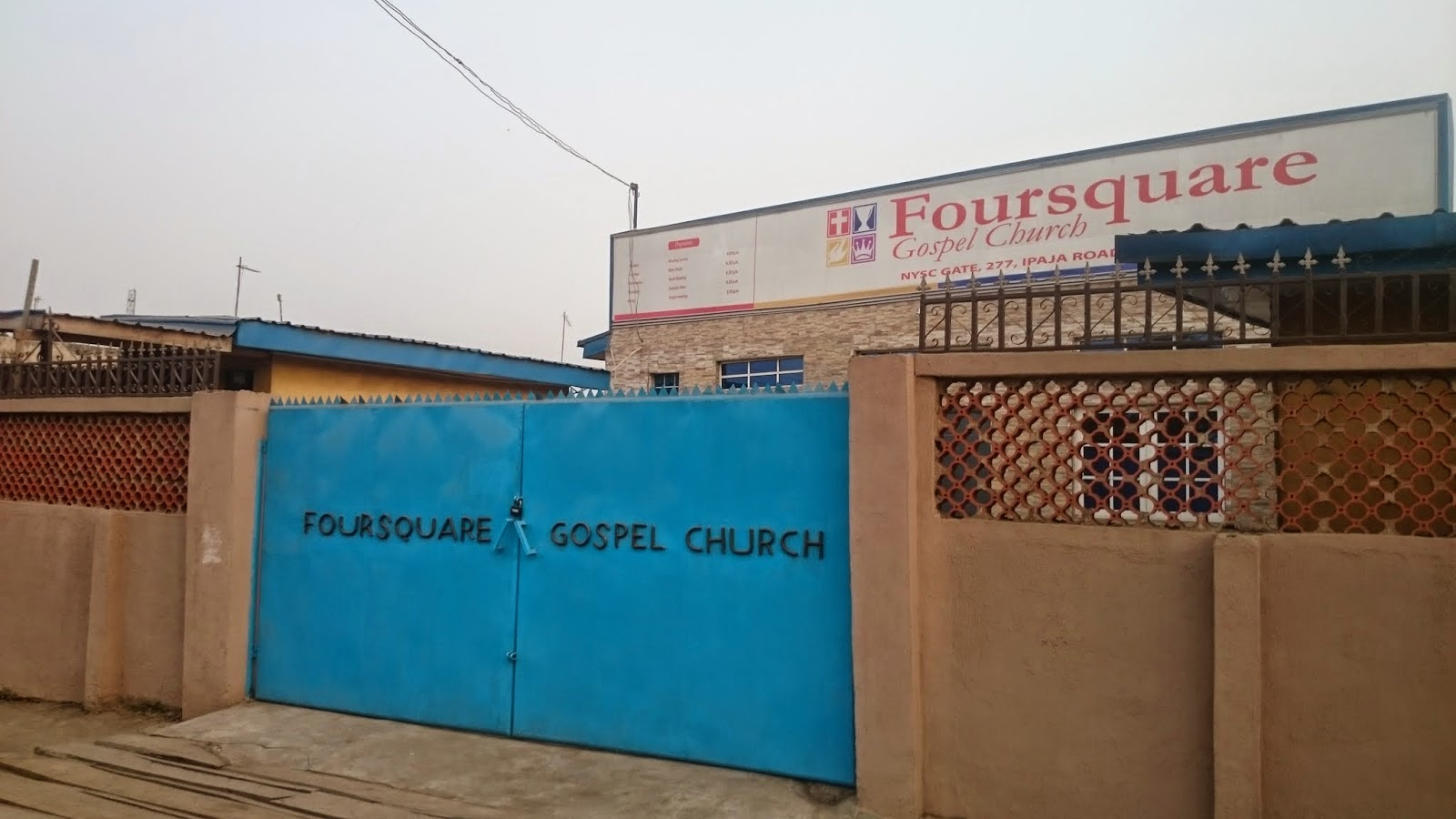 Branch of Forsquare Gospel church on Ipaja road near NYSC orientation camp, Lagos