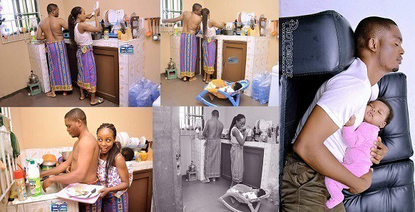 Nigerian couple show why husbands should help their wives at home