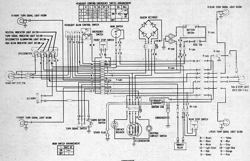 wiring diagram honda mr50 wiring diagram honda ch 80 part 2 complete wiring diagrams of honda ct90 | all about ...