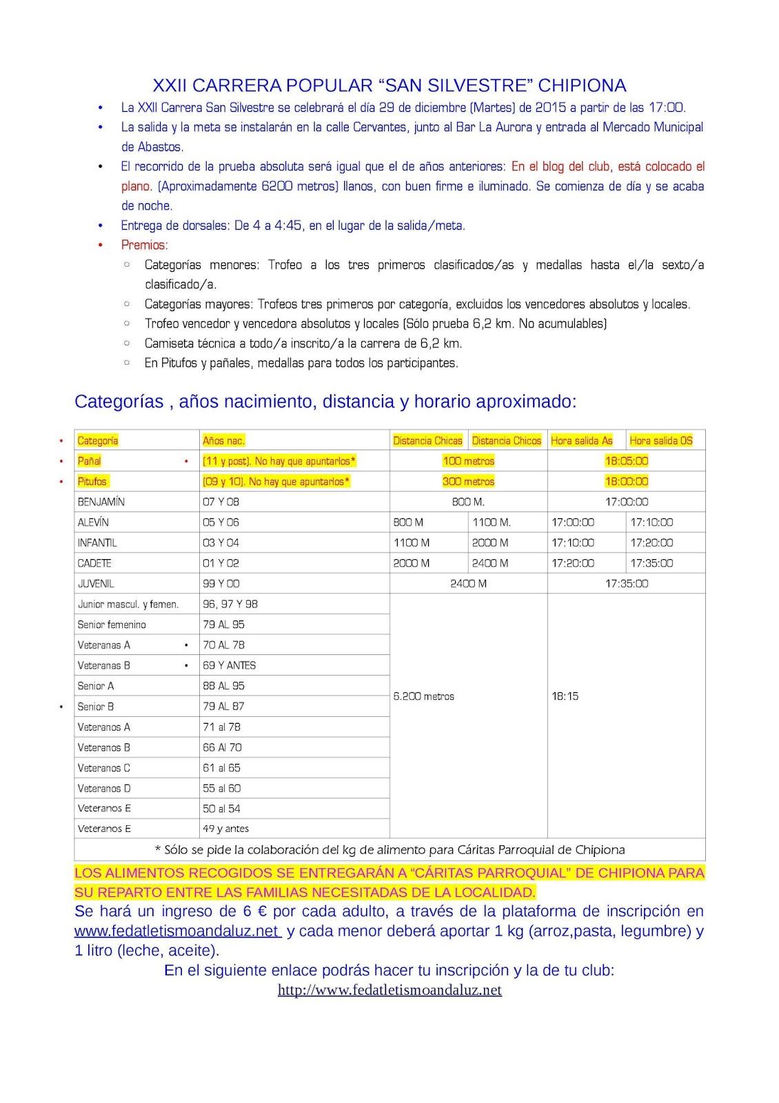 Club atletismo chipiona noviembre 2015 for Piscina municipal chipiona