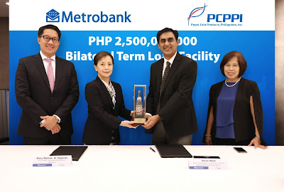 Metrobank signs in Pepsi on a 2.5B Bilateral Term Loan