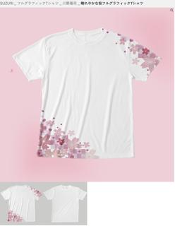 桜 全面Tシャツ