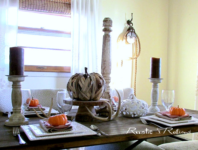 Cheap and easy thanksgiving table setting ideas