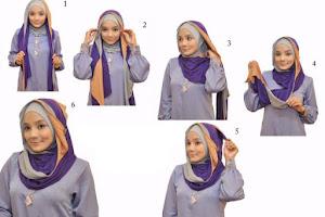 Cara memakai hijab 1