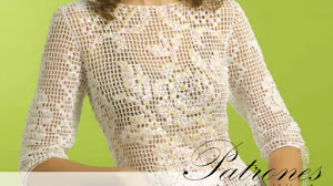 Patrones de Blusa en Crochet Filet