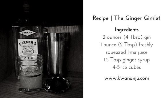 Recipe | The Ginger Gimlet