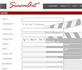 cara ikut casting online di ph sinemart