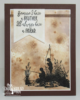 Our Daily Bread Designs Stamp Set: Brother in Christ, Custom Dies: Large Banners, Pierced Rectangles