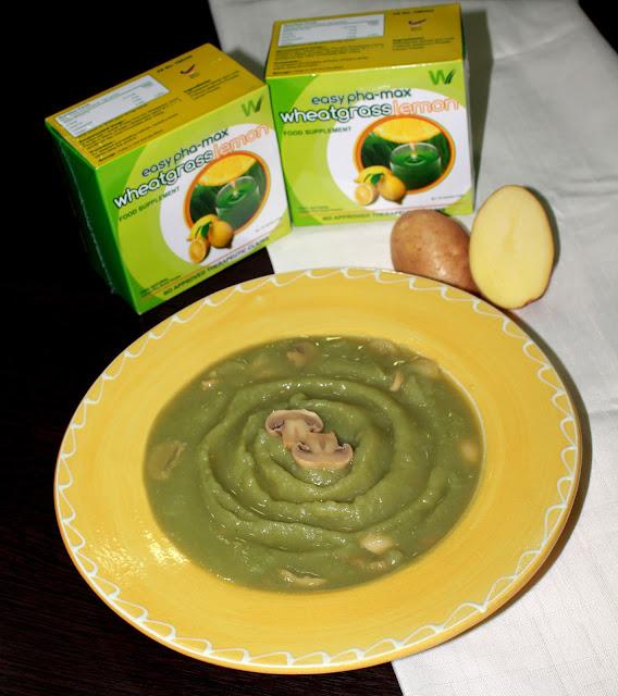 Green Potato Mushroom Soup