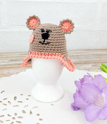 crochet bear Easter Egg Cozy
