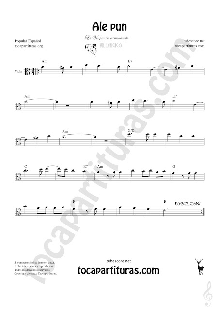 Viola Partitura de Ale Pun Sheet Music for Viola Music Score