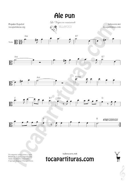Viola Partitura de Ale Pun Sheet Music for Viola Music Score