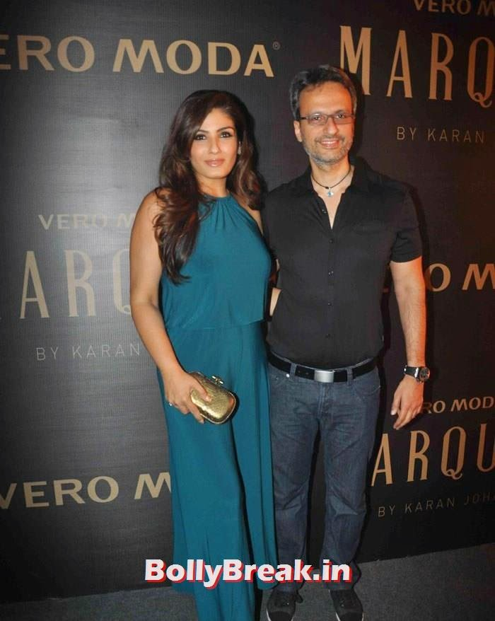 raveena tandon with husband anil thandani , Raveena Tandon in Green Dress without Sleeves - Latest hot pics