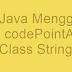 Belajar Java Menggunakan Method codePointAt() Dari Class String