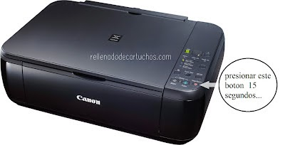 how reset the canon printer