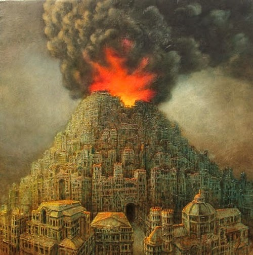 13-Vulcanopolis-II-Marcin-Kołpanowicz-Painting-Architecture-in-Surreal-Worlds-www-designstack-co