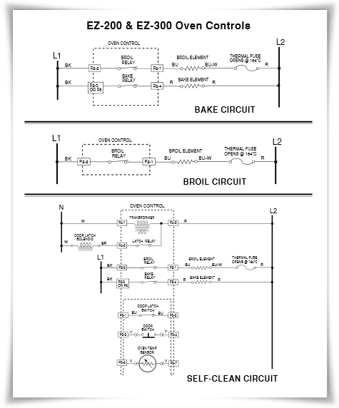Electric Range Strip Circuits