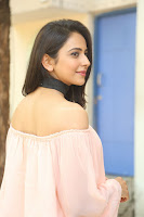 Rakul Preet Singh in lovely Pink Crop Top and Black Trousers at Jaya Janaki Nayaka success meet 018.JPG