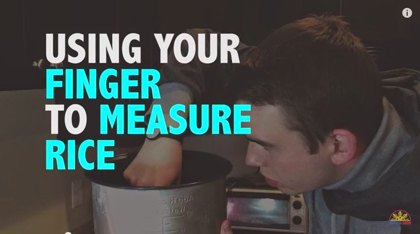Signs you are a Filipino: Measure rise using finger