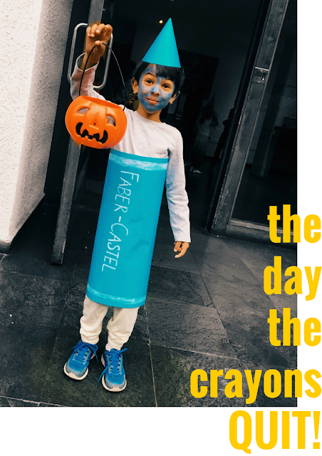 Halloween Crayon Costume from The Day the Crayons Quit!: By Practical Mom