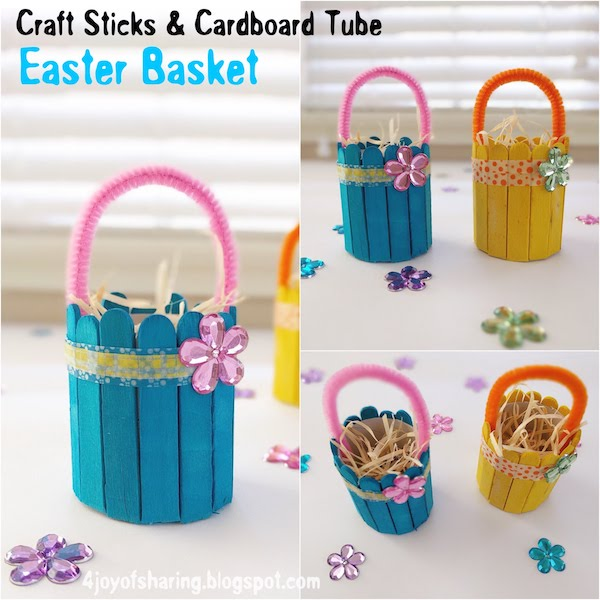 Recycled Craft, Cardboard Tube Craft, TP Roll Craft, ,Easter Craft, Easter Basket, Popsicle Stick Crafts, Wood Stick Crafts, Kids craft, crafts for kids, craft ideas, kids crafts, craft ideas for kids, paper craft, art projects for kids, easy crafts for kids, fun craft for kids, kids arts and crafts, art activities for kids, kids projects, art and crafts ideas, toddler crafts, toddler fun, preschool craft ideas, kindergarten crafts, crafts for young kids, school crafts