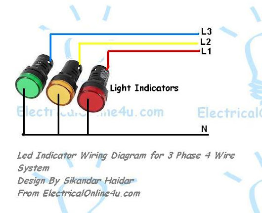 light indicator wiring diagrams for 3 phase voltage coming. Black Bedroom Furniture Sets. Home Design Ideas