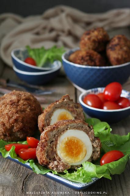 scotch eggs, co to są jaskółcze gniazda, przepis na jaka po szkocku, daylicooking