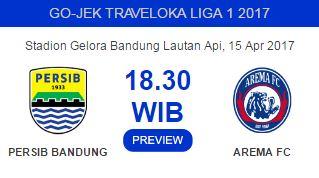 Prediksi Persib Bandung vs Arema FC 15 April 2017