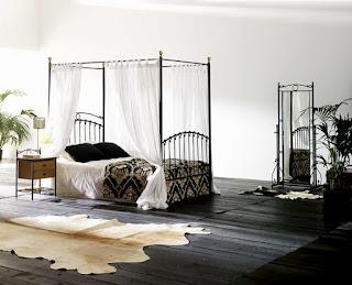 Cama alta cortinas