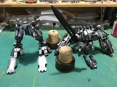 Grand Master in Nemesis Dreadknight WIP base metallics laid down.