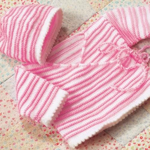 Baby Wrap Jacket & Hat - Free Pattern