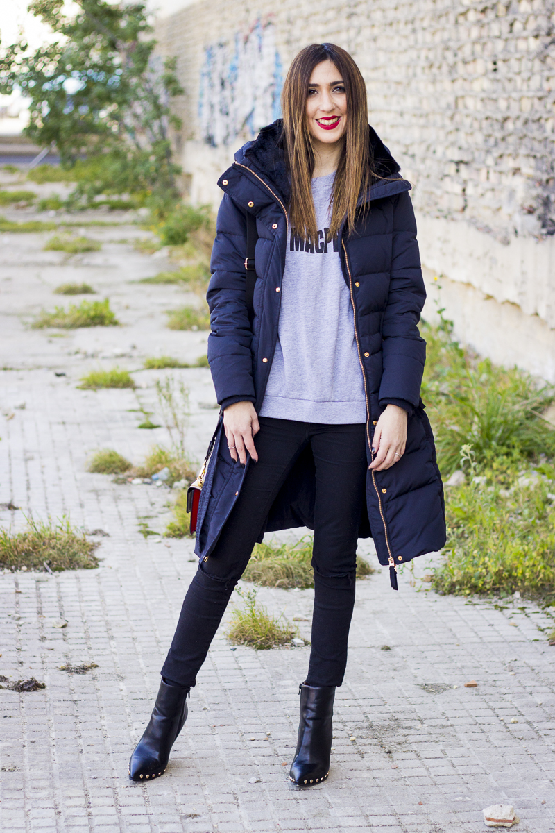 Plumas Abrigo Coat Puffy Tendencias Moda Shoesandbasics Y De TRf88pnq