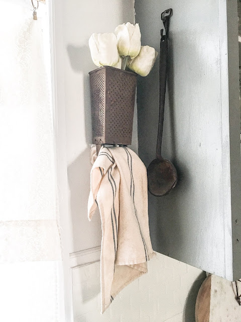 diy vintage farmhouse towel holder
