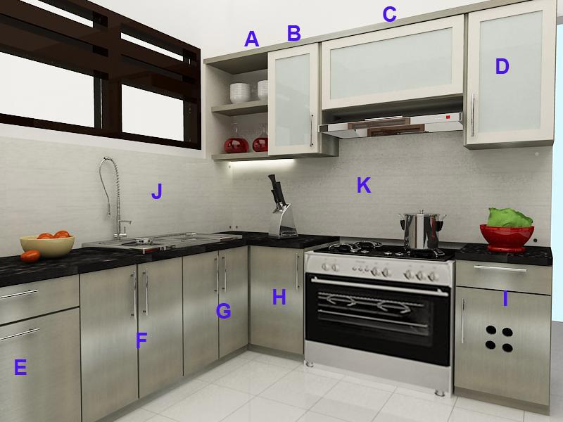 Kitchen Set Finishing Hpl Stainless Steel Semarang Furniture Semarang