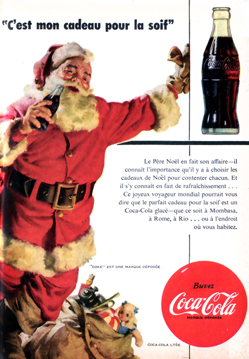 Image Pere Noel Coca Cola.Studio Pluche Coca Cola Et Le Pere Noel En 1954