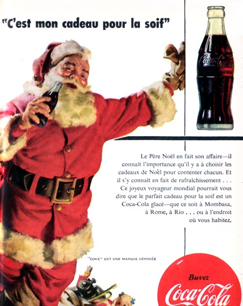 studio pluche coca cola et le p re no l en 1954. Black Bedroom Furniture Sets. Home Design Ideas