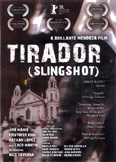 Set in the poverty stricken Quiapo district of Manilla, Tirador (Slingshot) follows a group of characters involved in petty crimes and drugs.