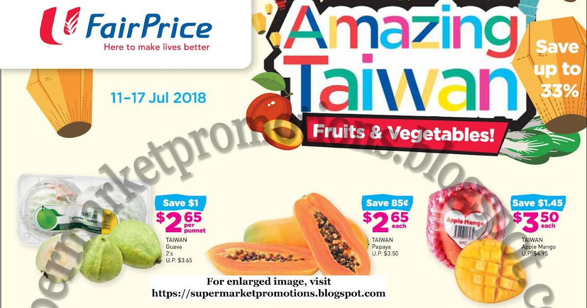 NTUC FairPrice Amazing Taiwan 11 - 17 July 2018