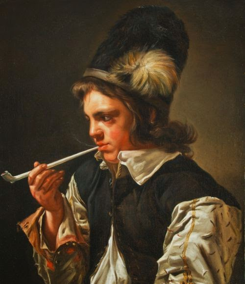 Jeune Homme Fumant la Pipe, Michaelina Woutiers