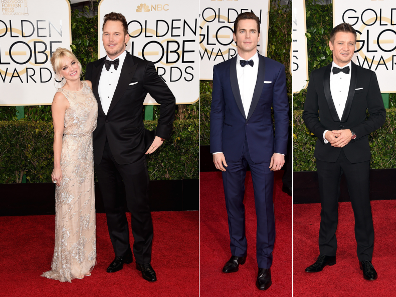 couple best dressed golden globes fashion men tuxedo